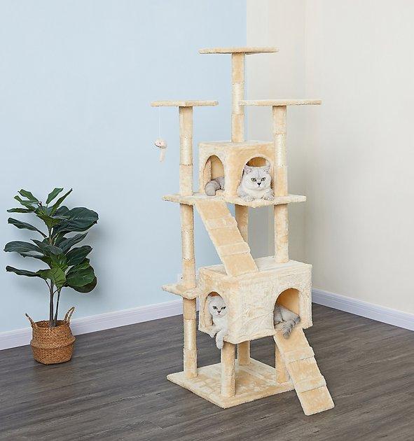 "63"" Go Pet Club Economical Sisal Cat Tree (Beige) $49 + Free Shipping"