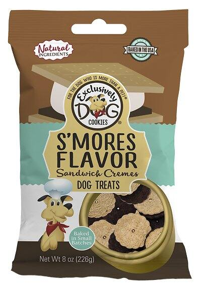 8-Oz Exclusively Dog S'mores Flavor Sandwich Creme Dog Treats $2.70 w/ Autoship + F/S $49+ or $2.85 w/ S&S + F/S w/ Amazon Prime
