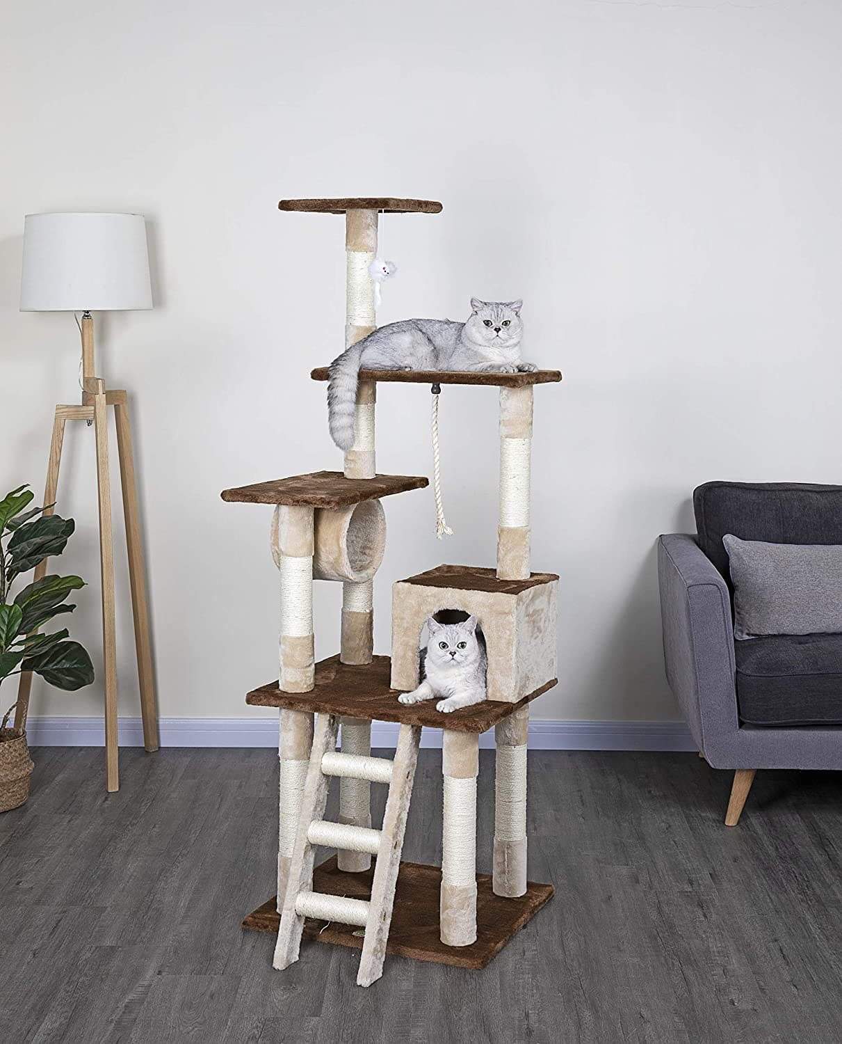 "67"" Go Pet Club Cat Tree & Condo $37.75 + Free Shipping"