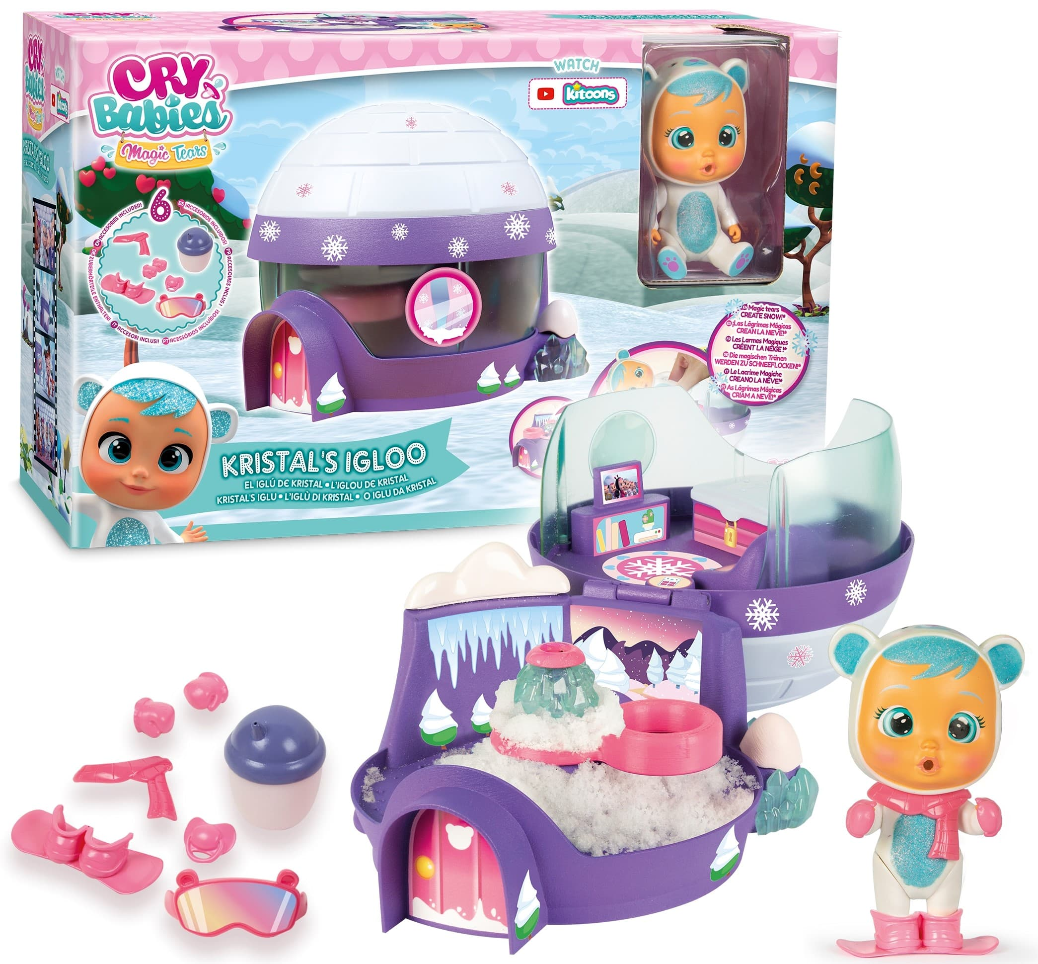 Cry Babies Magic Tears Kristal's Igloo Playset $10 + Free Shipping w/ Amazon Prime or Orders $25+