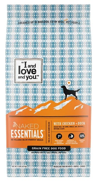 11-Lbs I and Love and You Naked Essentials Dry Dog Food $14.25 w/ S&S + Free Shipping w/ Prime or Orders $25+