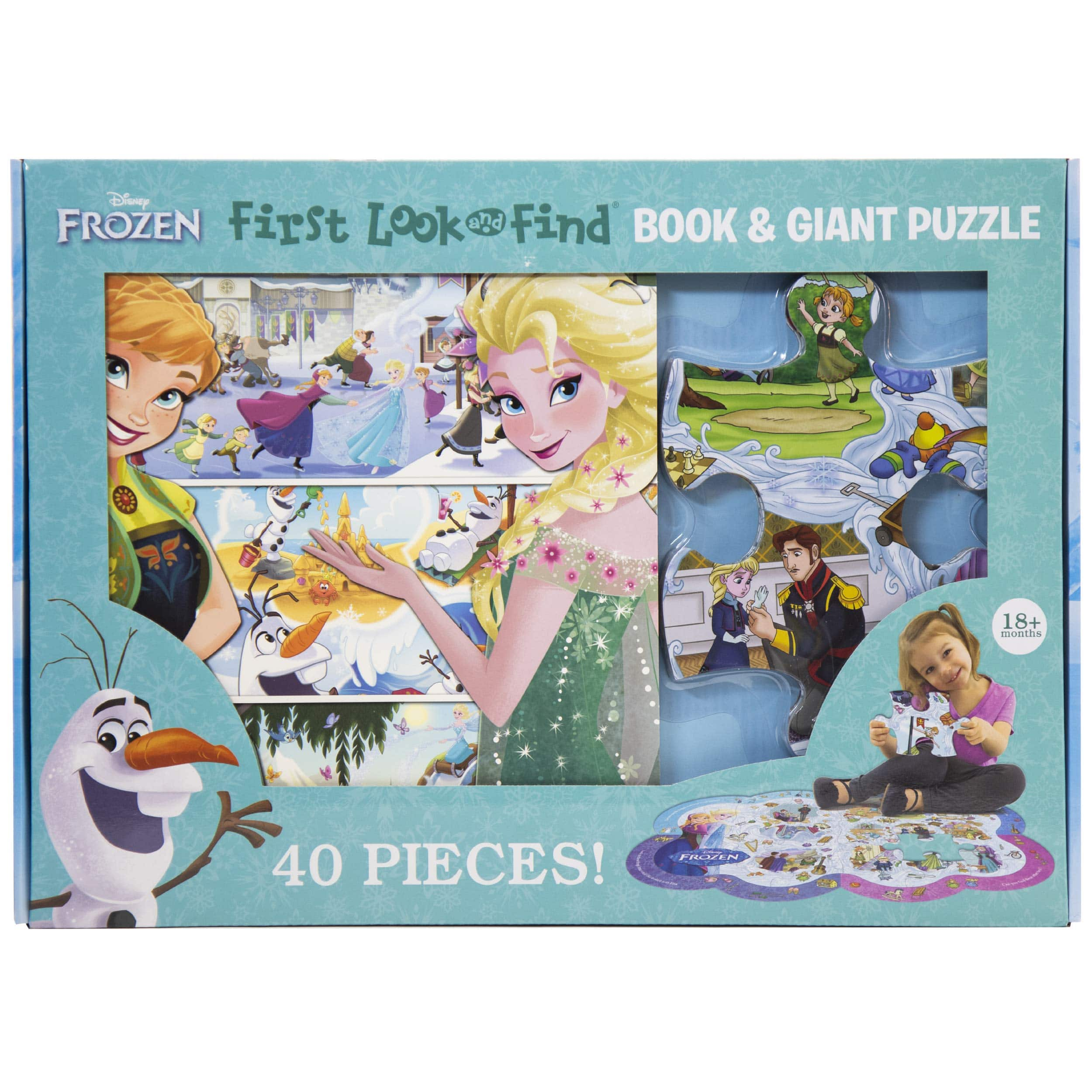 Disney Frozen First Look & Find Board Book & Giant 40-Pc Puzzle $10 + Free Shipping w/ Amazon Prime or Orders $25+