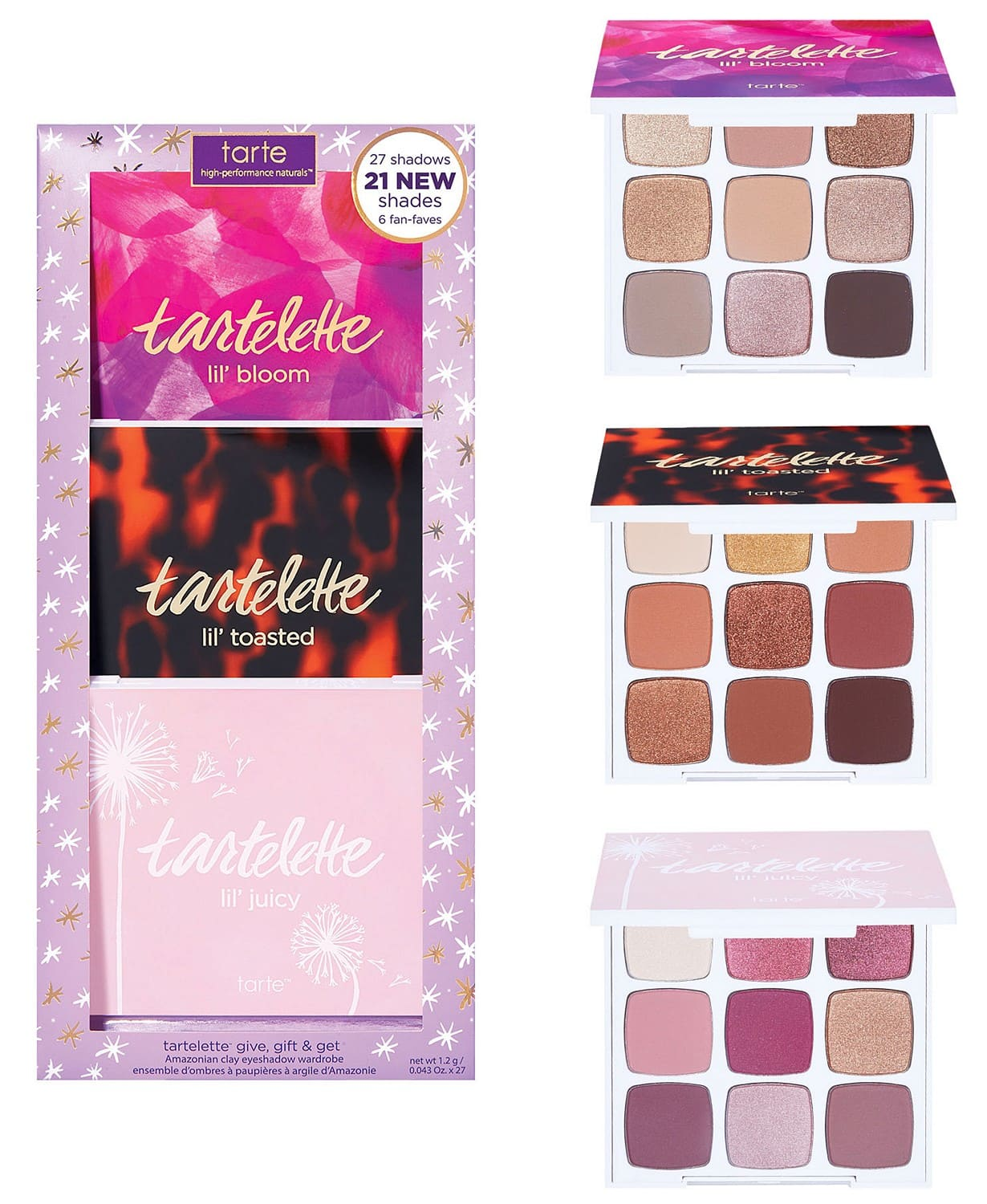 3-Pc Tarte Tartelette Give, Gift & Get Amazonian Clay Eyeshadow Set $29.40 + Free Shipping