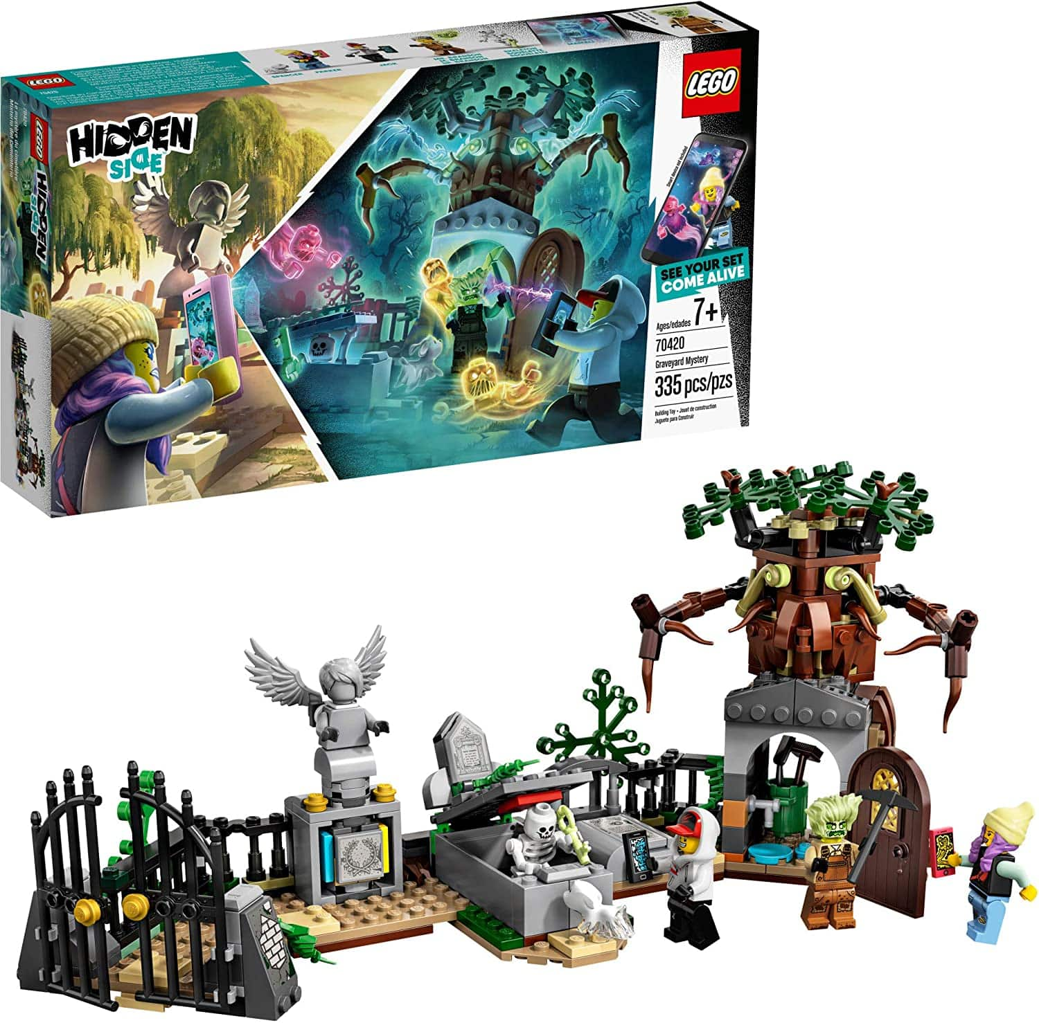 335-Pc LEGO Hidden Side Graveyard Mystery Building Kit $18 + Free Shipping w/ Amazon Prime or Orders $25+