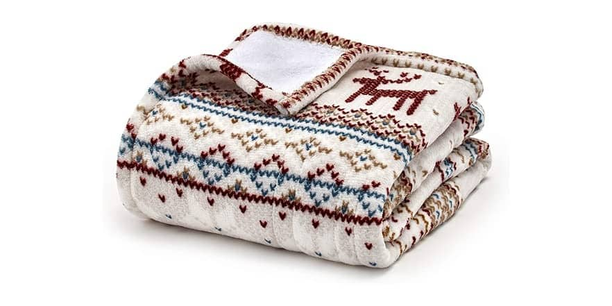 "50"" x 60"" Eddie Bauer Smart Heated Electric Throw Blanket $36 + Free Shipping w/ Amazon Prime"