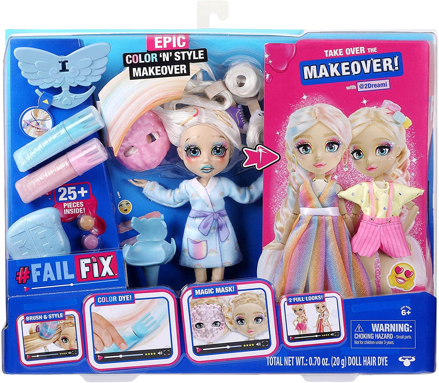 Failfix 2Dreami Epic Color 'N' Style Makeover Doll w/ 25+ Accessories $12.85 + Free Shipping w/ Amazon Prime or Orders $25+