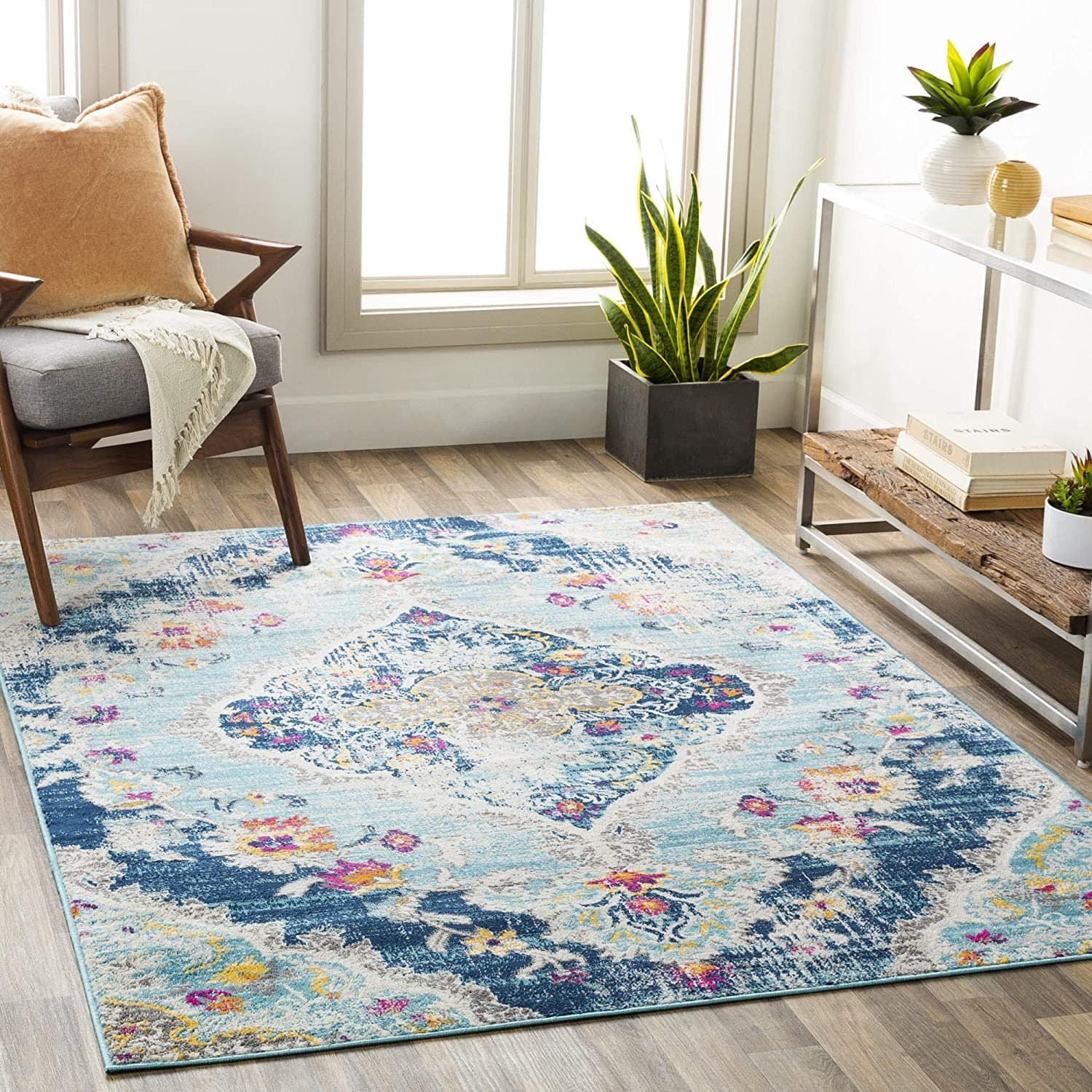 """5'3"""" x 7'1"""" Artistic Weavers Antioch Area Rug (Teal) $44.85 + Free Shipping"""