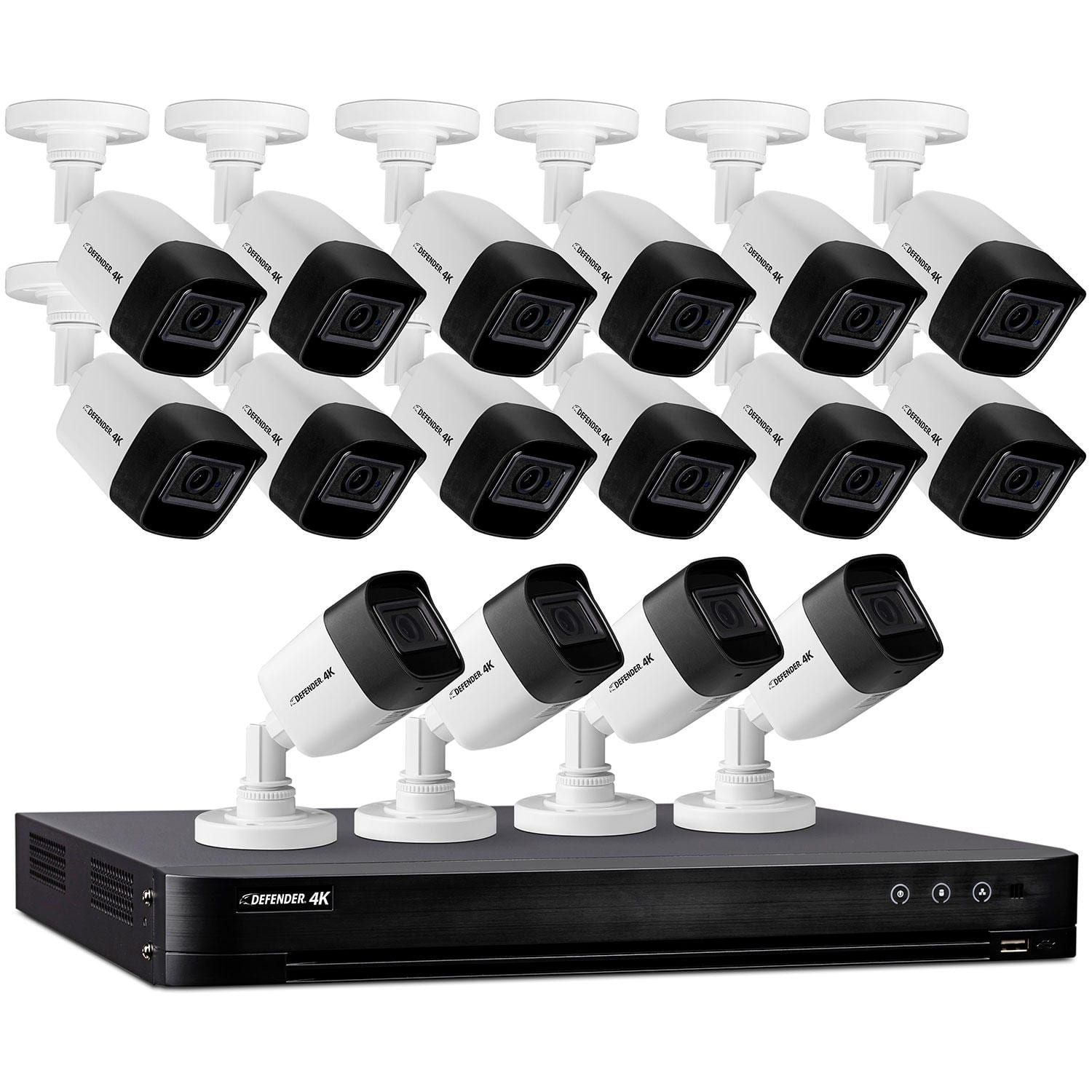 Defender 4K Resolution 4TB Security System w/ 16 Night Vision Cameras $799 + Free Shipping