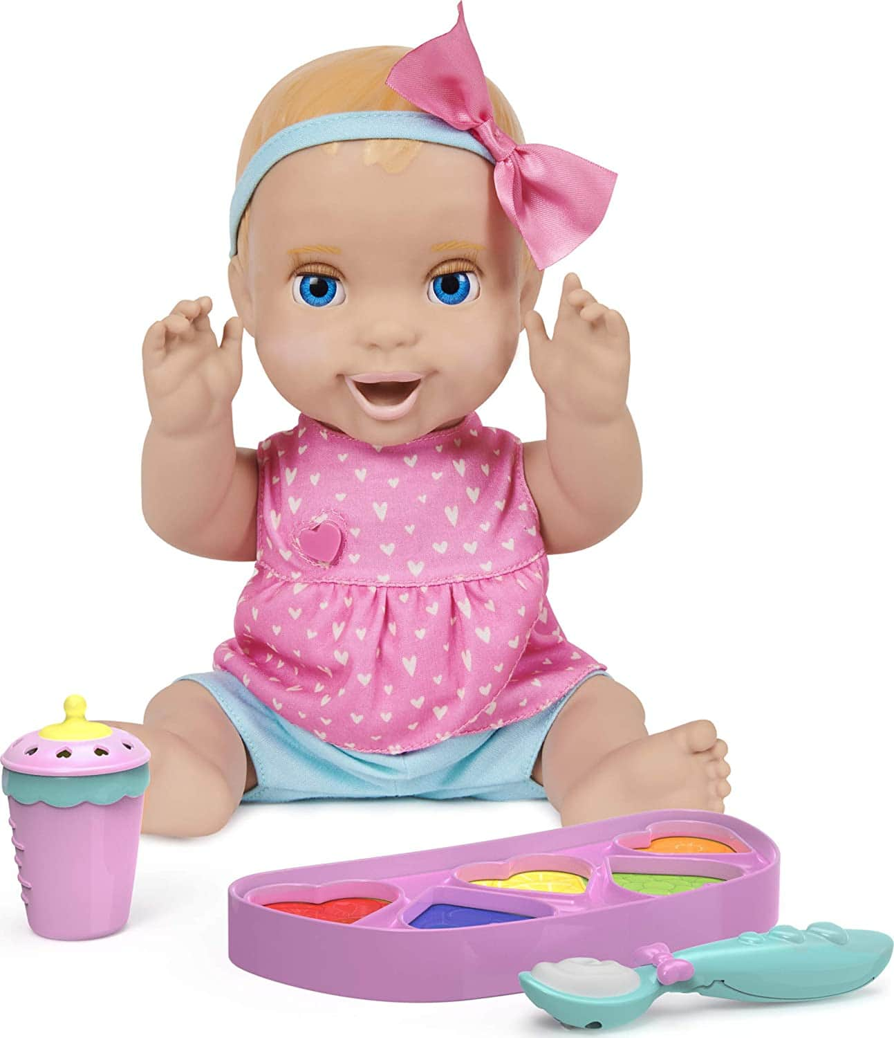 Mealtime Magic Mia Interactive Feeding Baby Doll w/ 70+ Sounds & Phrases $23.25 + Free Shipping w/ Amazon Prime or Orders $25+