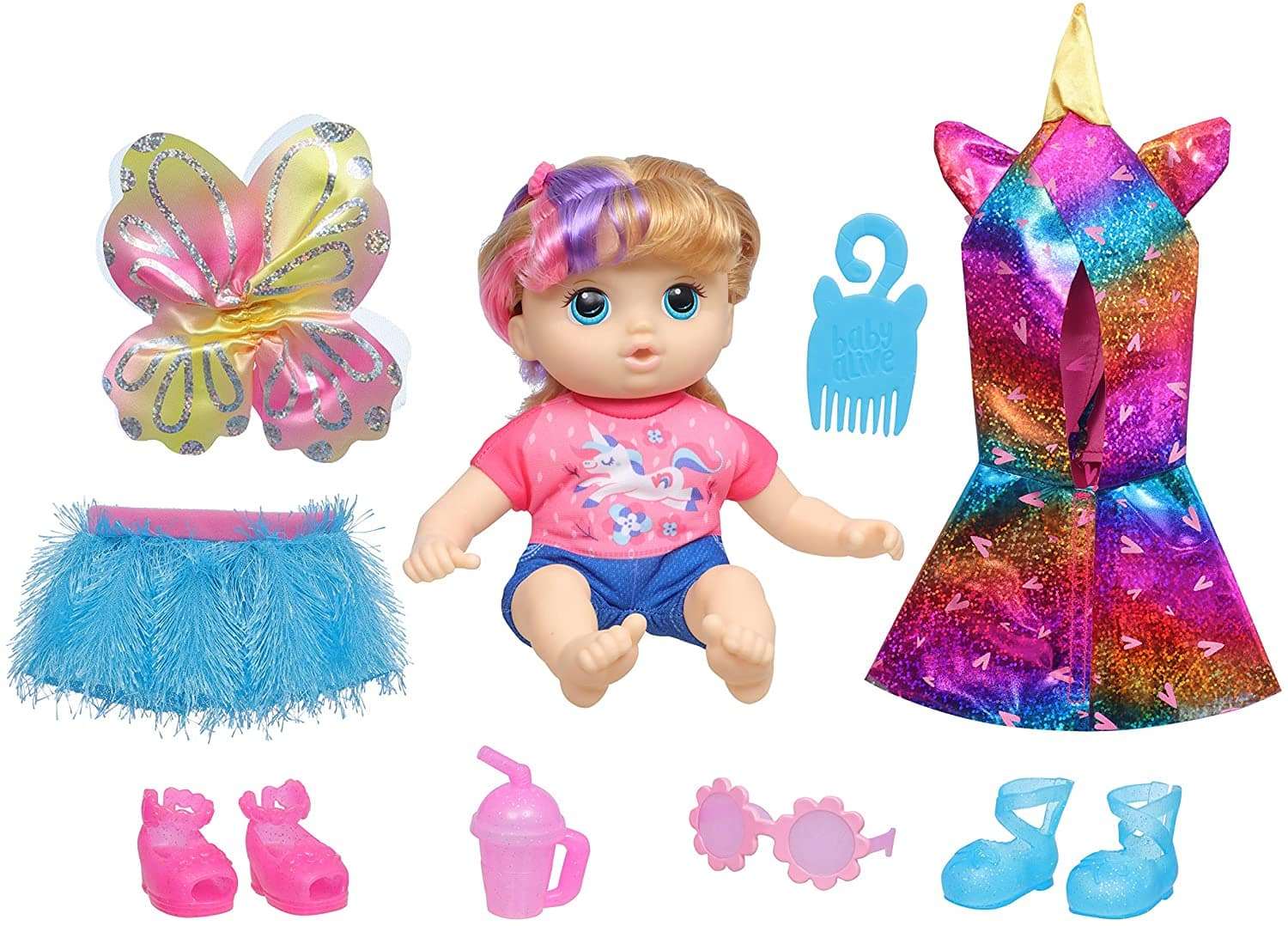 Littles by Baby Alive Fantasy Styles Squad Doll w/ Fairytale Accessories (Little Kiera) $13 + Free Shipping w/ Amazon Prime or Orders $25+