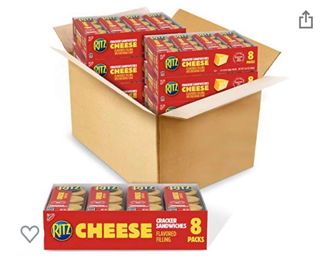 RITZ Sandwich Crackers, Cheese, 64.8 Ounce $14.32