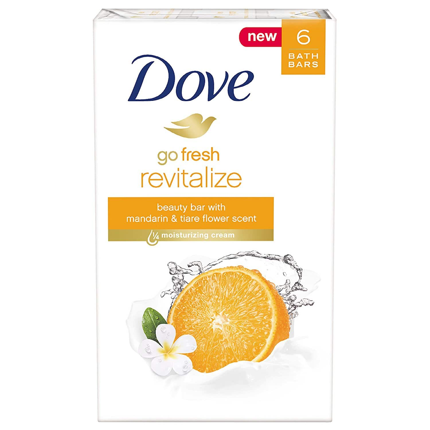 Amazon: Dove Beauty Bar - Mandarin and Tiare Flower - 6 Count - $2.88 + FS With Prime Pantry Order $40+