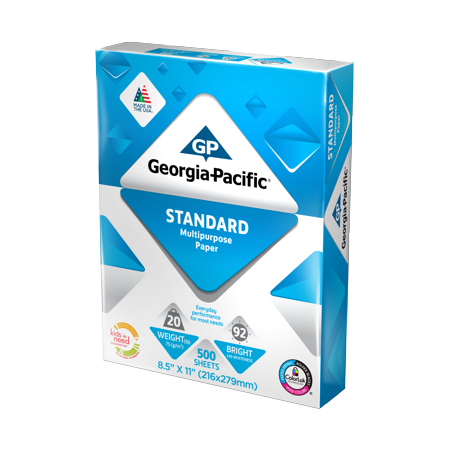 "Walmart - Georgia-Pacific Standard Copy Paper 8.5"" x 11"", 20lb/92 Bright, 500 Sheets $0.75 In Store YMMV"