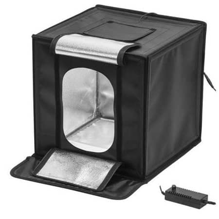 """Glow LED Studio-Cube Portable Shooting Tent / Lightbox with Dimmer 17"""" for $39.95 with free shipping"""