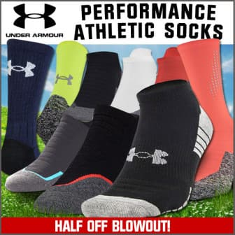 Field Supply: 50% off Blowout - Under Armour Performance Socks and More