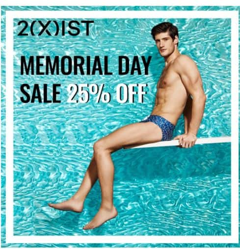 2(X)IST: 25% Off Full-Priced Items + Buy One (Anything), Get One Cotton Stretch Box Brief 2-Pack for Free