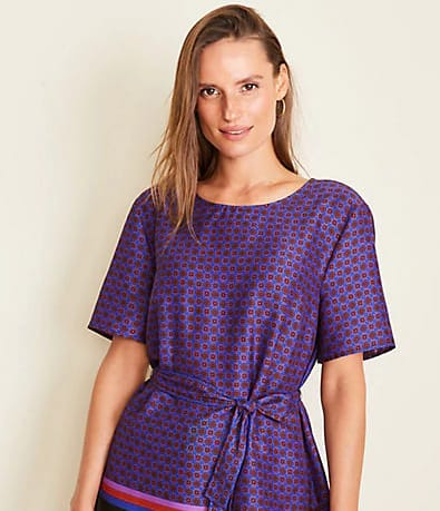 Tipped Tie Waist Tee for $69.50 @ anntaylor