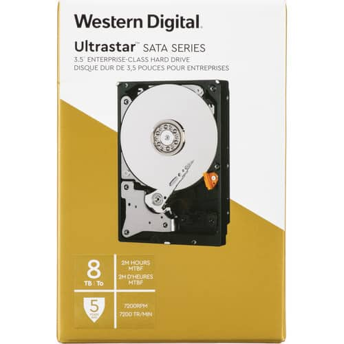 "WD 8TB Ultrastar 7200 RPM SATA 3.5"" Internal Data Center HDD $339.55"