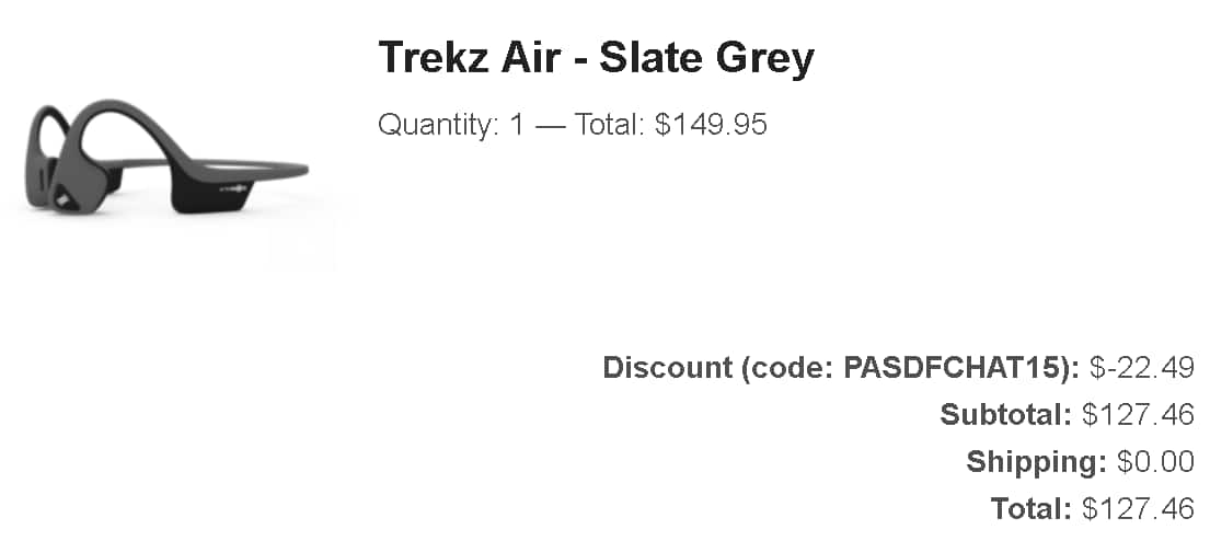 Aftershockz Trekz Air AS650 for 127.46 (Requires Chat With Rep) $127.46
