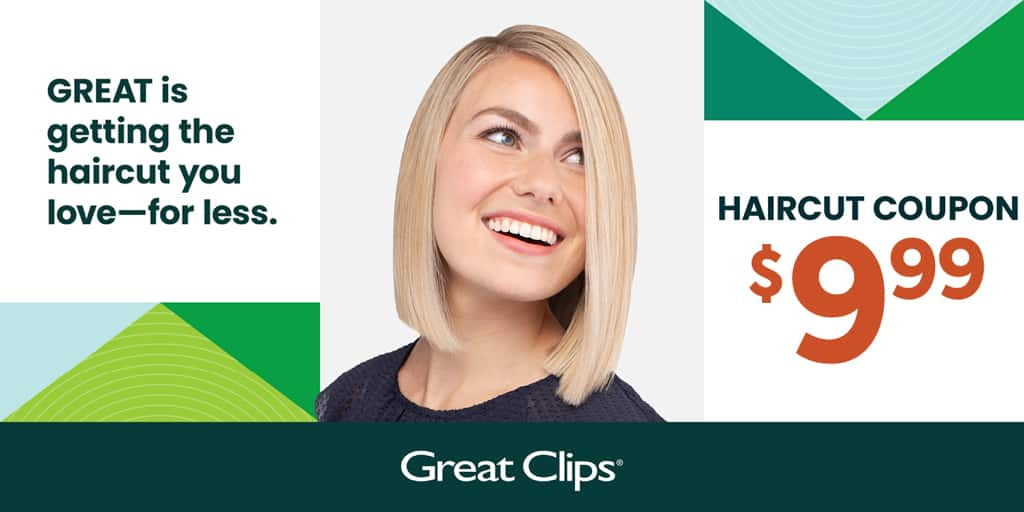 Select Great Clips coupon for $9.99 - Atlanta and N Georgia  - $9.99