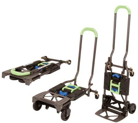 Cosco Shifter 300-Pound Capacity Multi-Position Heavy Duty Folding Hand Truck and Dolly, Green $47.99