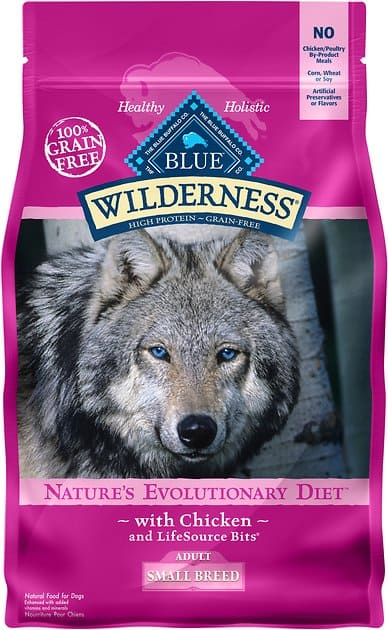 27-lbs Blue Buffalo Wilderness Small Breed Dry Dog Food, Chicken $39.94 ($1.48 per lb) + Free Shipping