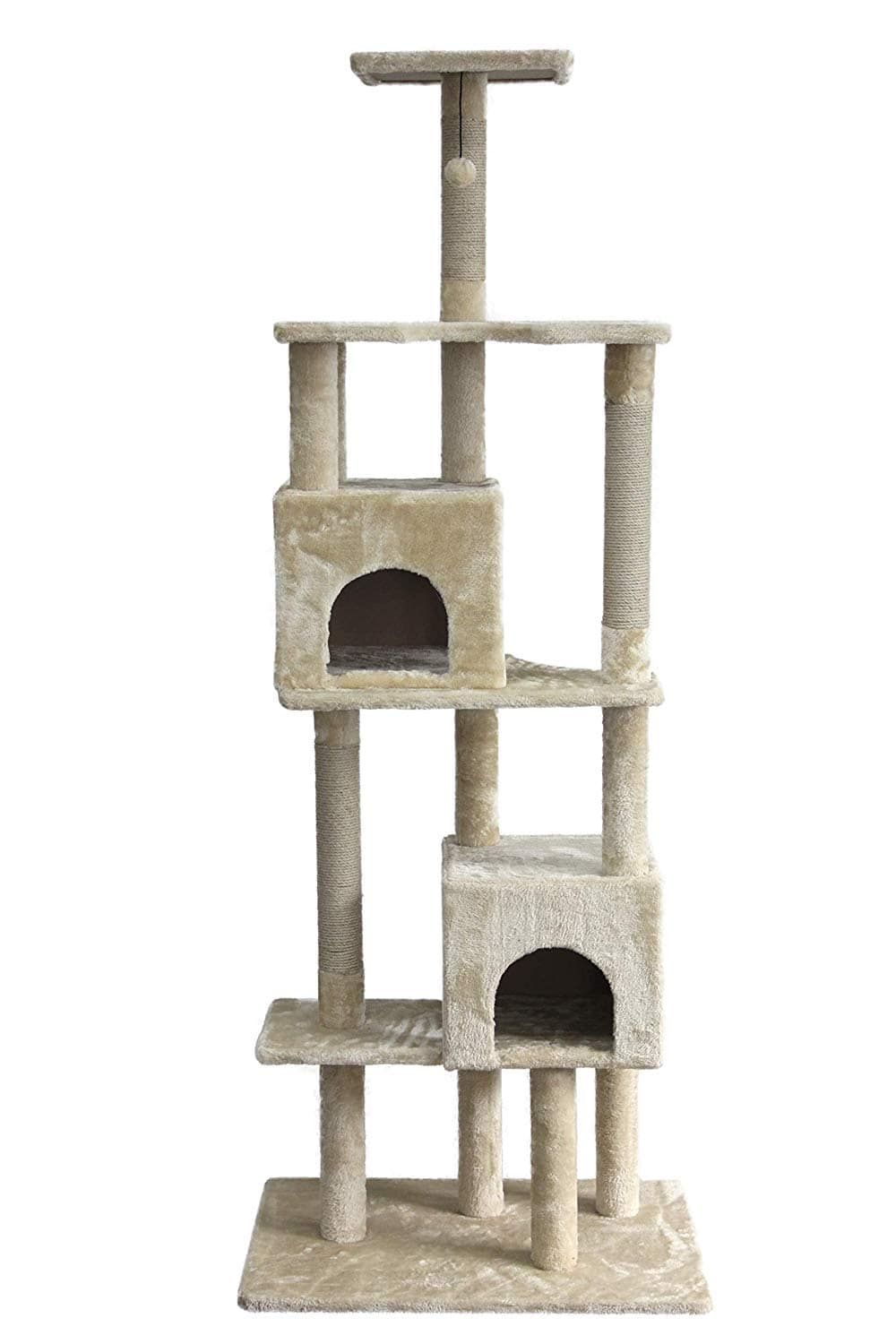 "78"" Amazon Basics Dual Cave Cat Tree $59 + Free Shipping"