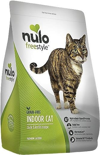 New Chewy Autoship Customers: 12-lb Nulo Duck & Lentils Grain-Free Dry Cat Food 2 for $33.64 ($16.82 per bag) + Free Shipping