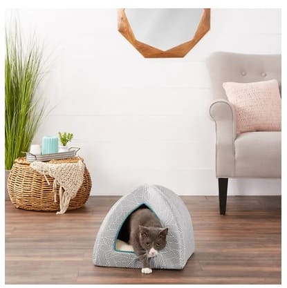 Frisco Dog & Cat Igloo Bed Cave, Gray Basket Weave Print $12.79 + Shipping