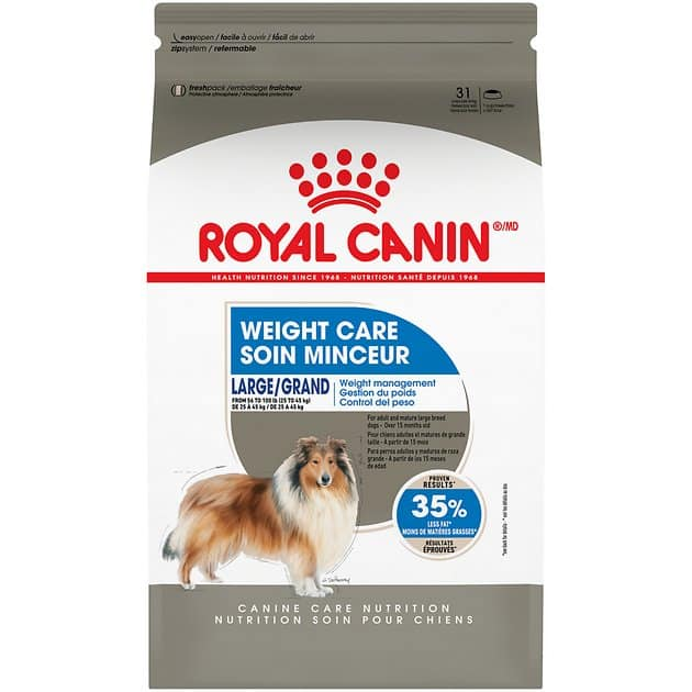 New Chewy Autoship Customers: 36-lb Royal Canin Large Breed Weight Care Dry Dog Food $36.67 ($1.02 per lb) + Free Shipping