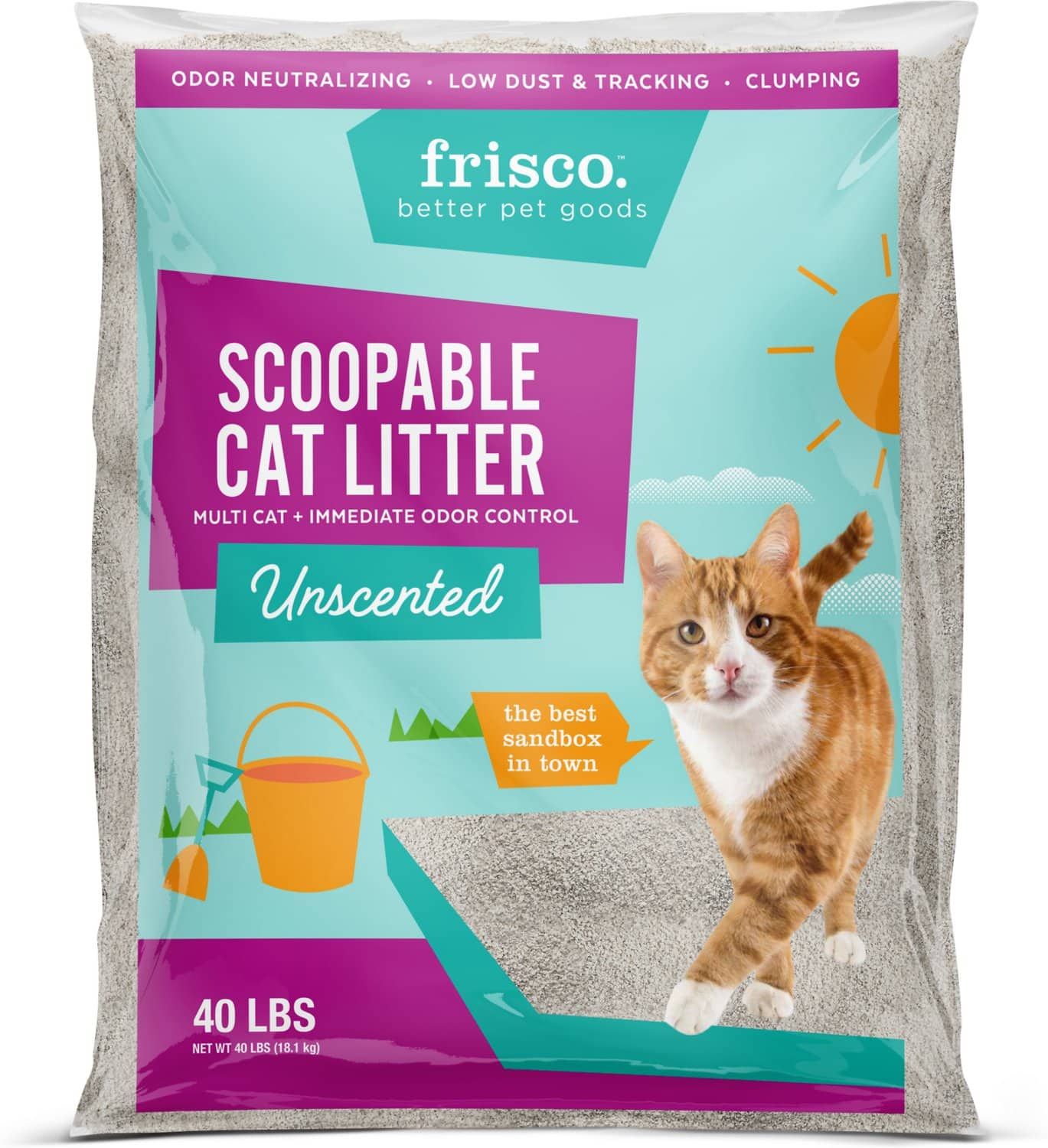 New Chewy Autoship Customers: 80-lbs Frisco Multicat Clumping Litter + Catit Hooded Litter Pan $35 + Free Shipping