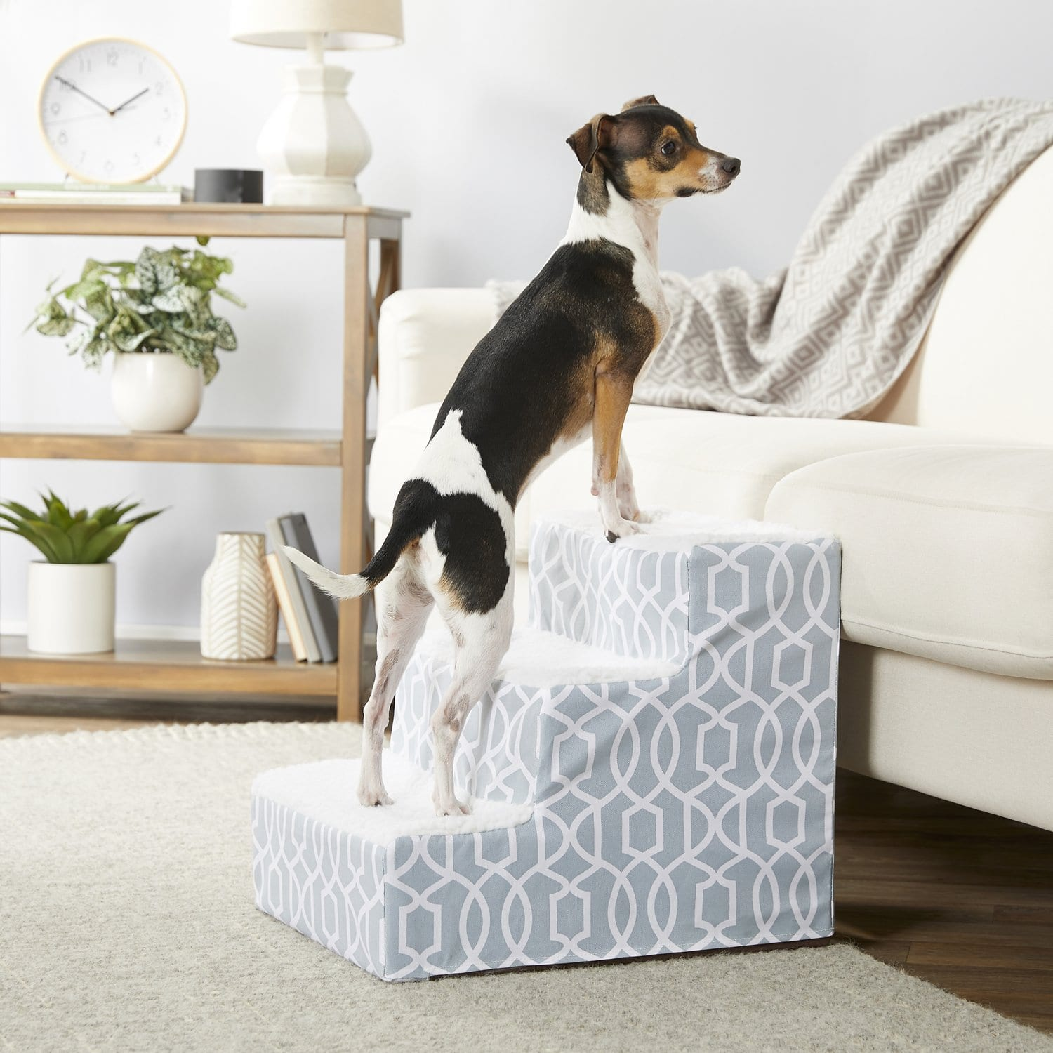 New Chewy Autoship Customers: Pet Gear Trellis Print Designer Step III Dog & Cat Stairs $26.36 + Free Shipping