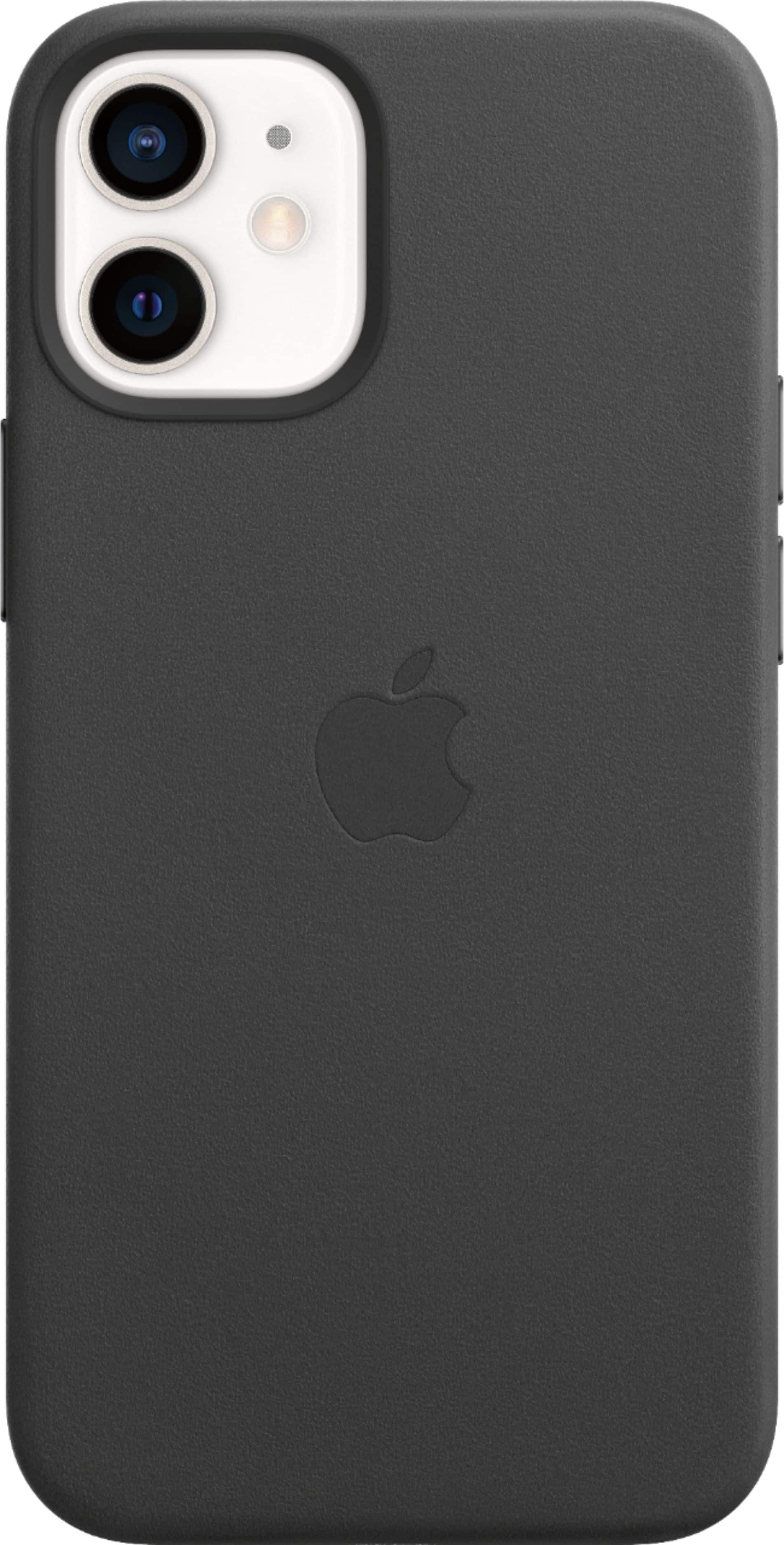 Apple Leather Case with MagSafe for iPhone 12 Mini - Black - $23.99 at Best Buy