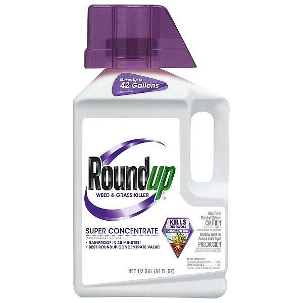 Roundup Weed and Grass Killer Super Concentrate, 1/2-Gallon -$38.41 plus 15% off coupon $32.65