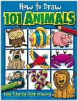 How to Draw 101 Animals Paperback Book