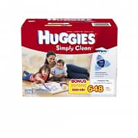 Amazon Deal: 648-Ct Huggies Simply Clean Fragrance Free Baby Wipes Refill