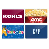 TwoSmiles by HP Deal: TwoSmiles Coupon for Select Gift Cards from Kohl's, Gap, AMC, Toys R Us & More