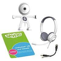 Walmart Deal: 3-Month Unlimited Skype Subscription Card w/ Binatone Webcam & Headset (White)