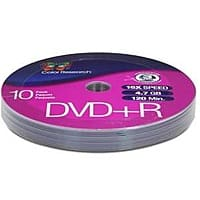 TigerDirect Deal: 10-Pack Color Research DVD+R Media