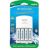 Newegg Deal: 4-Pack Eneloop 2000mAh Ni-MH Pre-Charged Rechargeable Batteries with Charger
