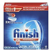 Amazon Deal: Finish Powerball Dishwasher Detergent Tablets: 90-Count $9.20, 60-Count