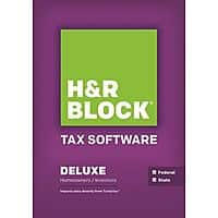 Newegg Deal: H&R Block Tax Software: Deluxe + State (PC & Mac)