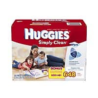 Amazon Deal: 648-Count Huggies Simply Clean Fragrance-Free Baby Wipes Refill