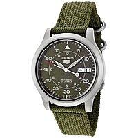 Amazon Deal: Men's Seiko 5 Automatic Casual Watch (Green Canvas Strap)