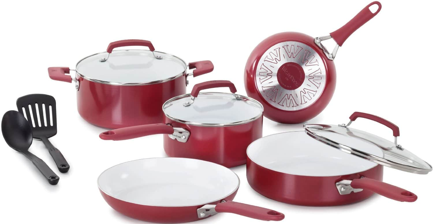 WearEver Pure Living Nonstick Cookware Sets: 15-Piece $100, 10-Piece  $55 + Free Shipping