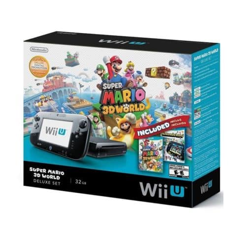 Wii U 32GB Black Deluxe Set w/ Super Mario 3D World & Nintendo Land $260 + Free Shipping (eBay Daily Deal)