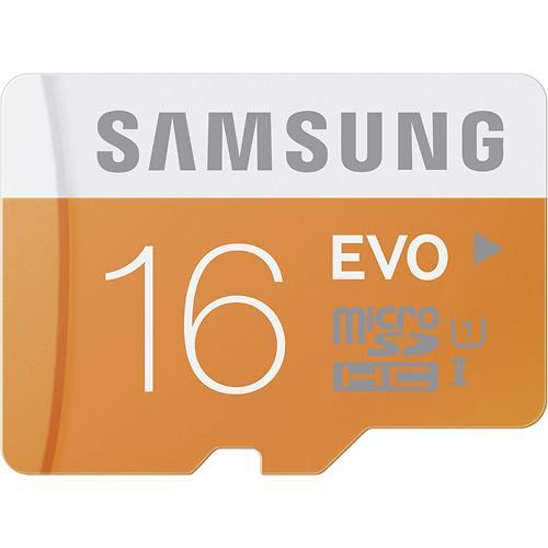 Samsung EVO microSD Class 10 UHS-1 Memory Cards: 64GB $27, 32GB $13, 16GB  $8 + Free Store Pickup