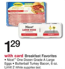 California Deal: Nice! One Dozen Grade A Large Eggs for $1.29 at Walgreens B&M (2/1/2015 - 2/7/2015)