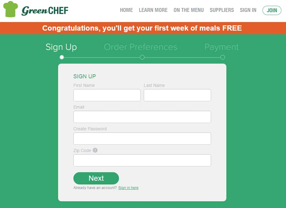 6 Home-Delivered Meals from Green Chef for $9 in Select Locations (~90% savings; subscription-based with cancellation required)