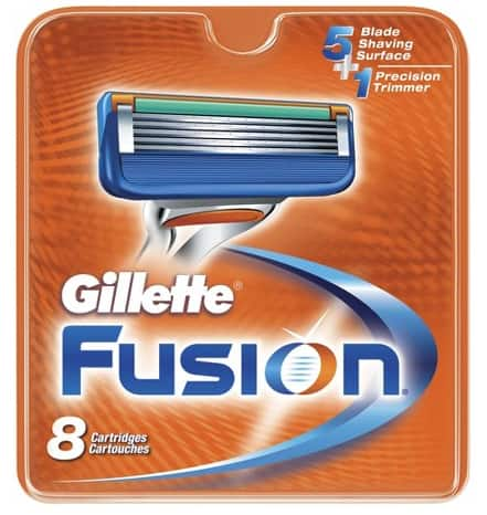 8-Pack Gillette Fusion Manual Cartridges  $16 + Free Store Pickup